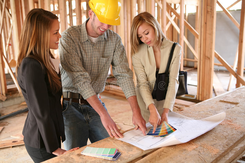 Designers and Home Builder royalty free stock photo