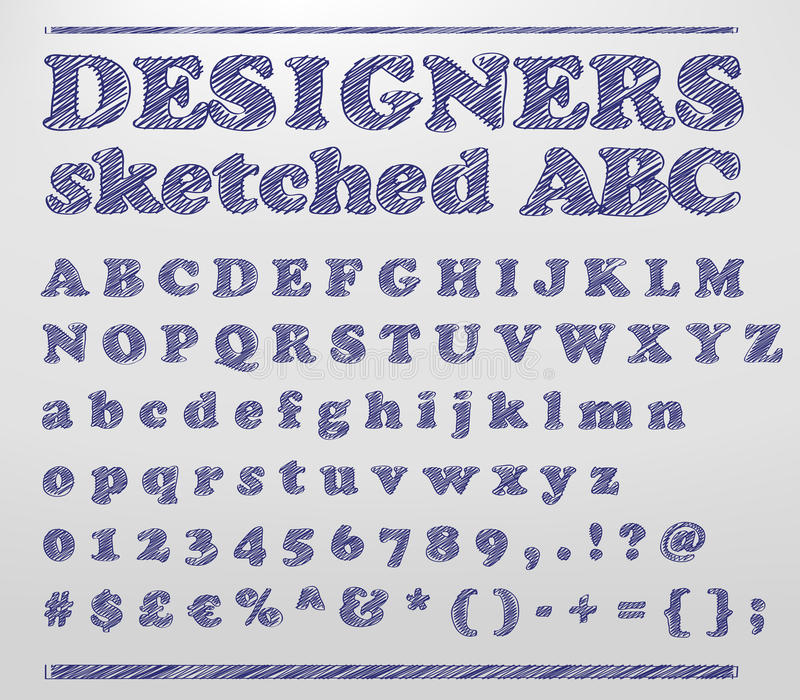 Download Designers sketched ABC stock vector. Image of drawn, sketched - 27591298