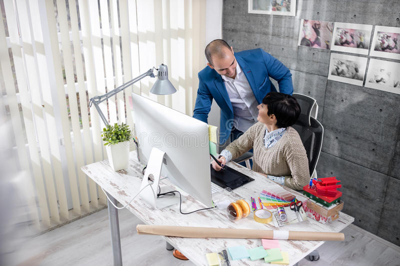 Designers team working royalty free stock image