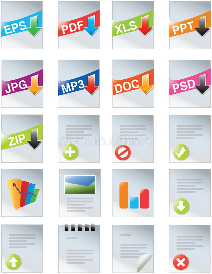 Download Designers Toolkit- Web 2.0 Icons Stock Vector - Illustration of attachment, graph: 13186565