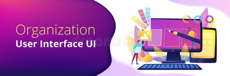Web design development header or footer banner vector illustration