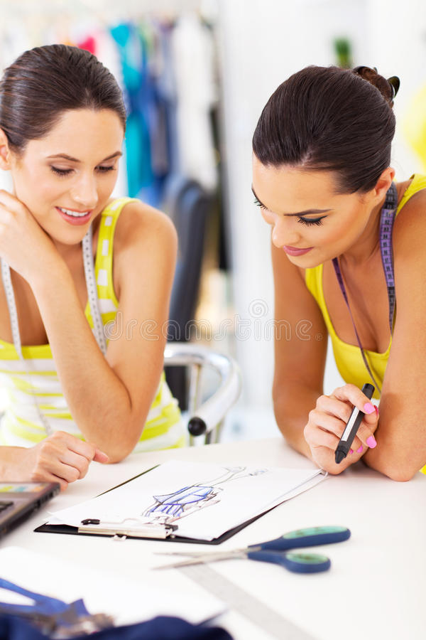 Designers working together stock photo