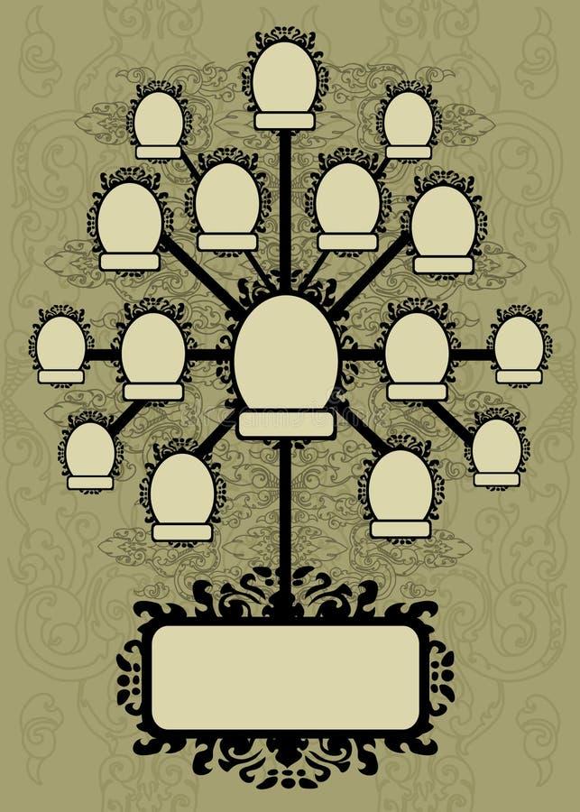designfamiljen inramniner treevektorn stock illustrationer