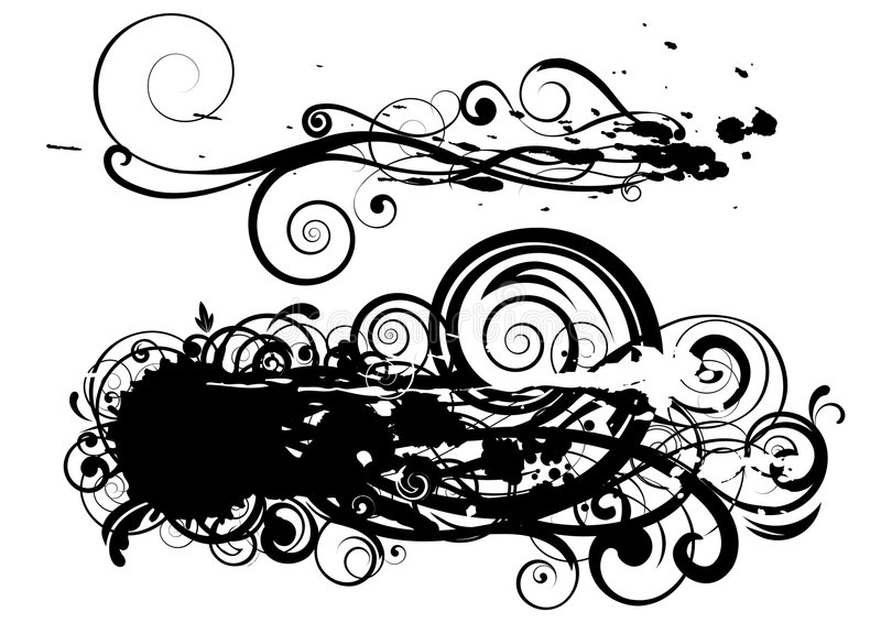Designfläckswirl Royaltyfria Foton