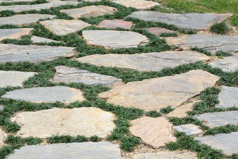 Designgolv av trottoar med stenen fotografering för bildbyråer