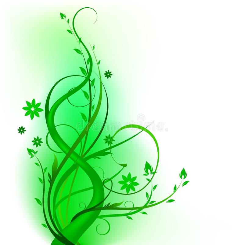 designgreenswirl vektor illustrationer