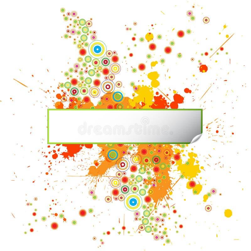 designgrungemålarfärg splatters mallen royaltyfri illustrationer