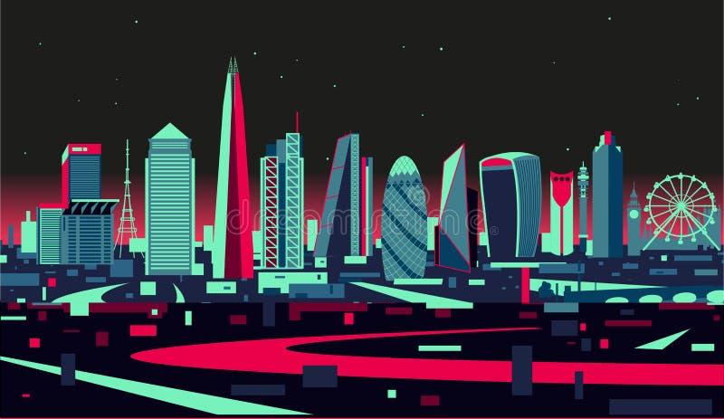 designillustrationlondon horisont dig vektor illustrationer