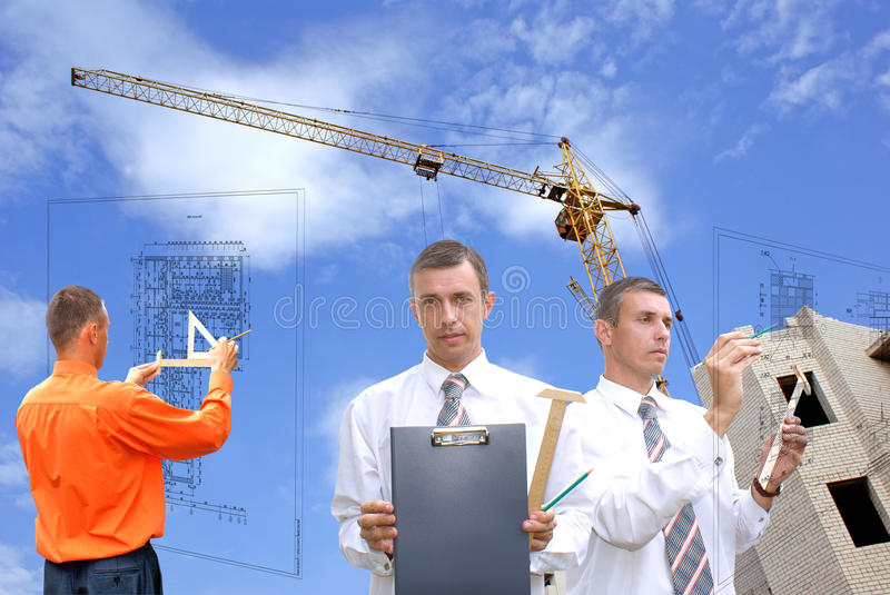 Designing. Projection -initial preparatory stage in construction new building royalty free stock image