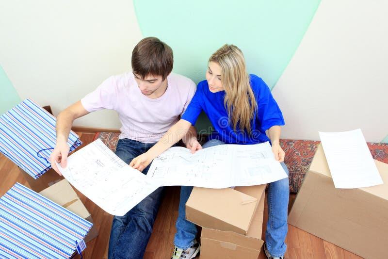 Designing new home stock photo