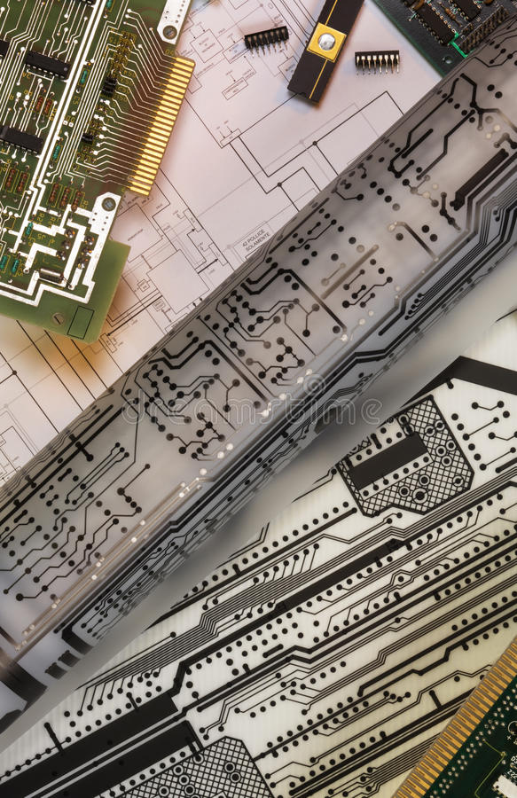 Designing Printed Circuit Boards stock photography