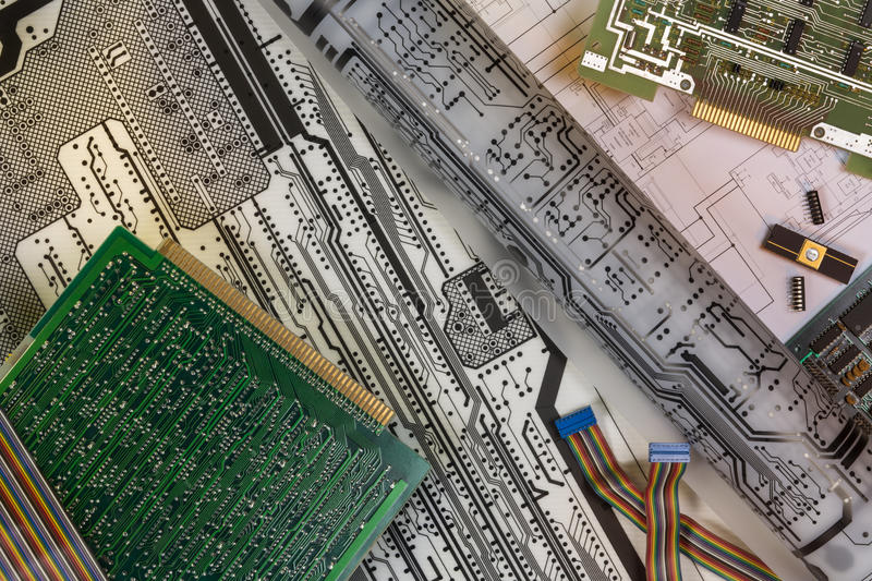 Designing Printed Circuit Boards stock images