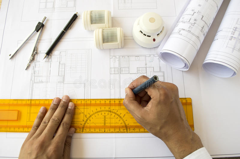 Download Designing a safety system stock image. Image of engineer - 32101743