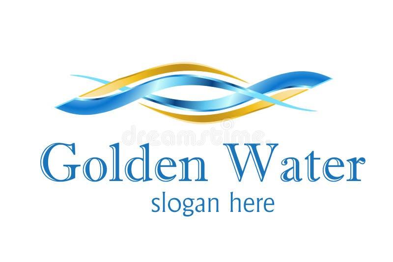 designlogo som behandlar vatten royaltyfri illustrationer