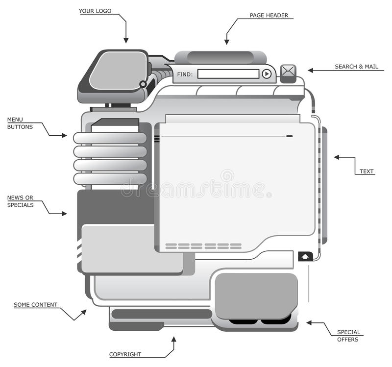 designlokalmall vektor illustrationer