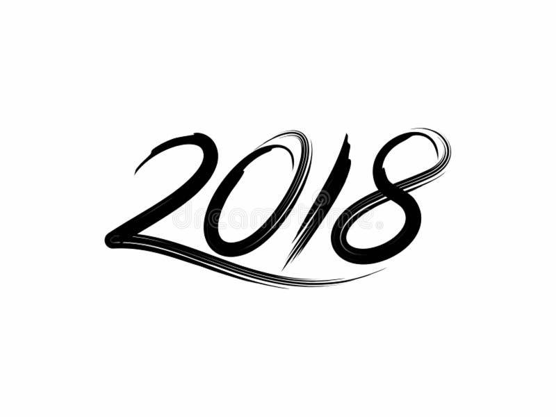 designmall för 2018 borste royaltyfri illustrationer