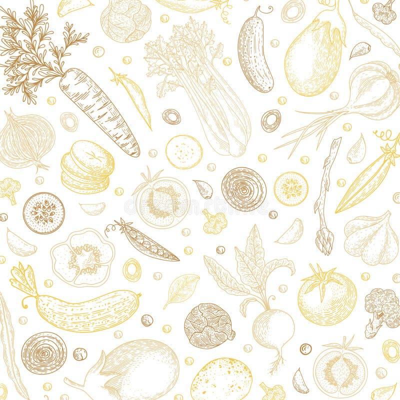 Designmall för organisk mat pepprar ny maize för bakgrundscabbadgemoroten grönsaker Detaljerad vegetarisk matteckning Lantgårdmar vektor illustrationer