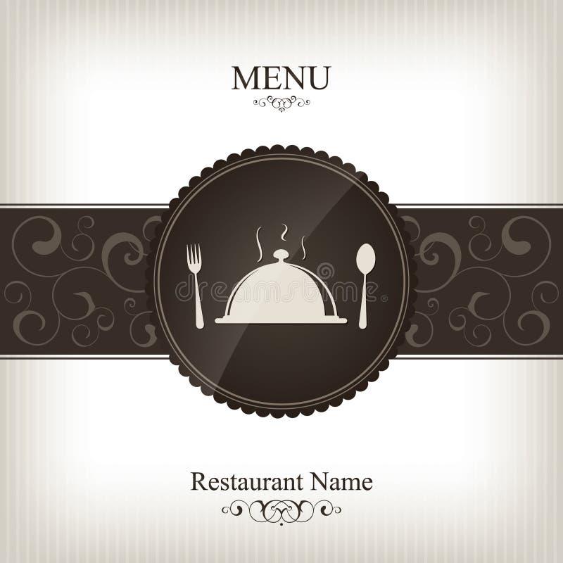 designmenyrestaurang royaltyfri illustrationer