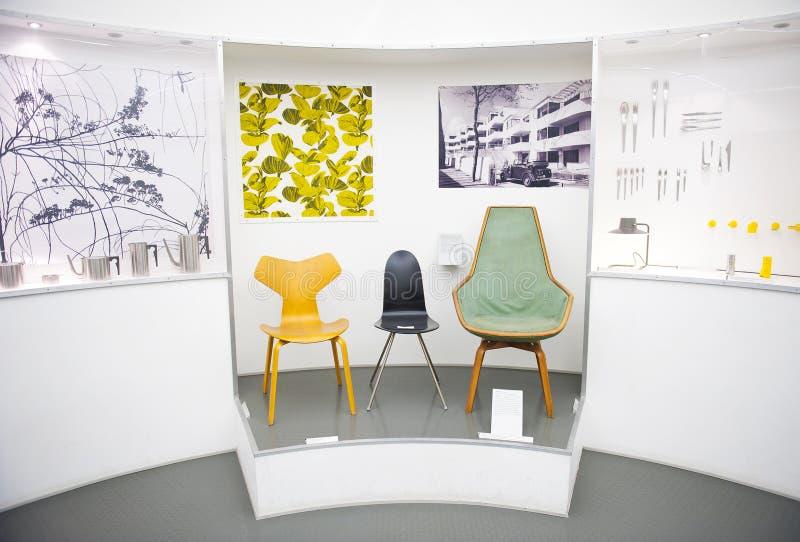 Designmuseum Danmark. COPENHAGEN, DENMARK - JULY 2: A pernament exhibition of The Designmuseum Danmark on July 2, 2014 in Copenhagen. The museum is located in stock images