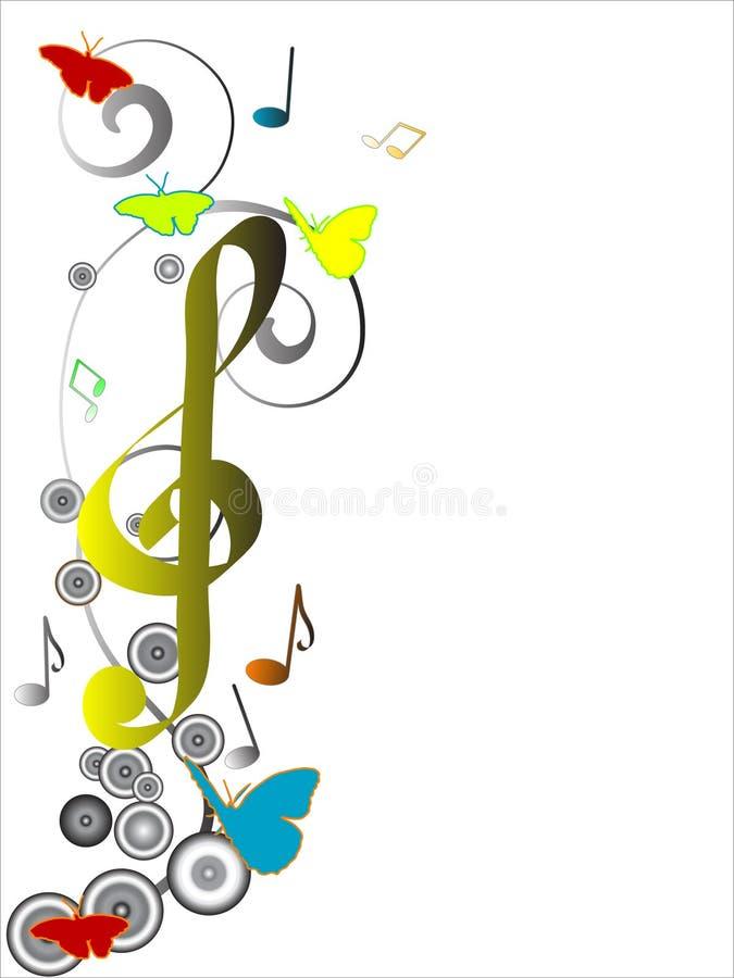 designmusikal vektor illustrationer