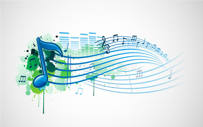 designmusikanmärkning royaltyfri illustrationer