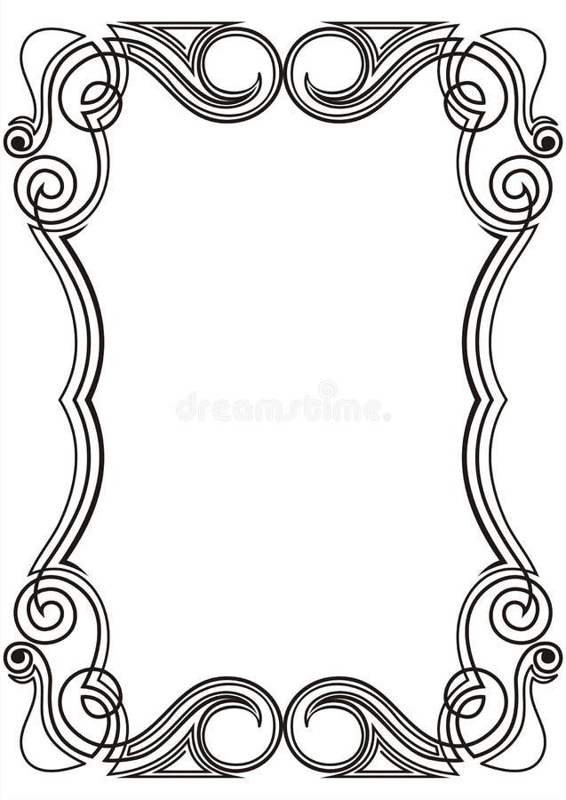designrammodell royaltyfri illustrationer