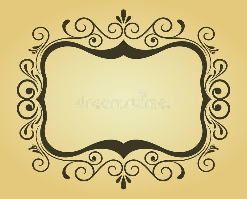 designramvictorian royaltyfri illustrationer