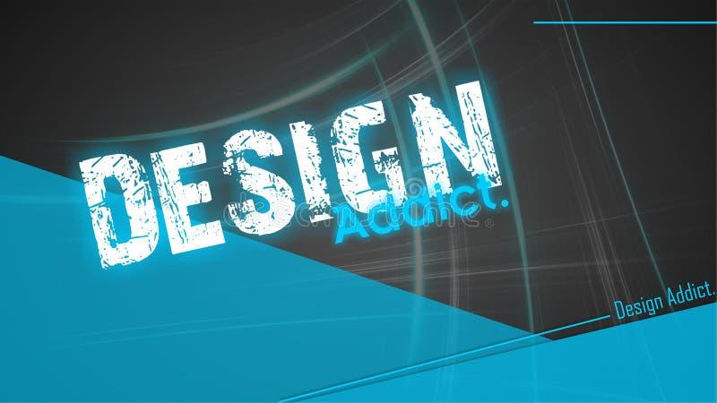 Designsüchtiger - Tapetendesktop lizenzfreie stockbilder