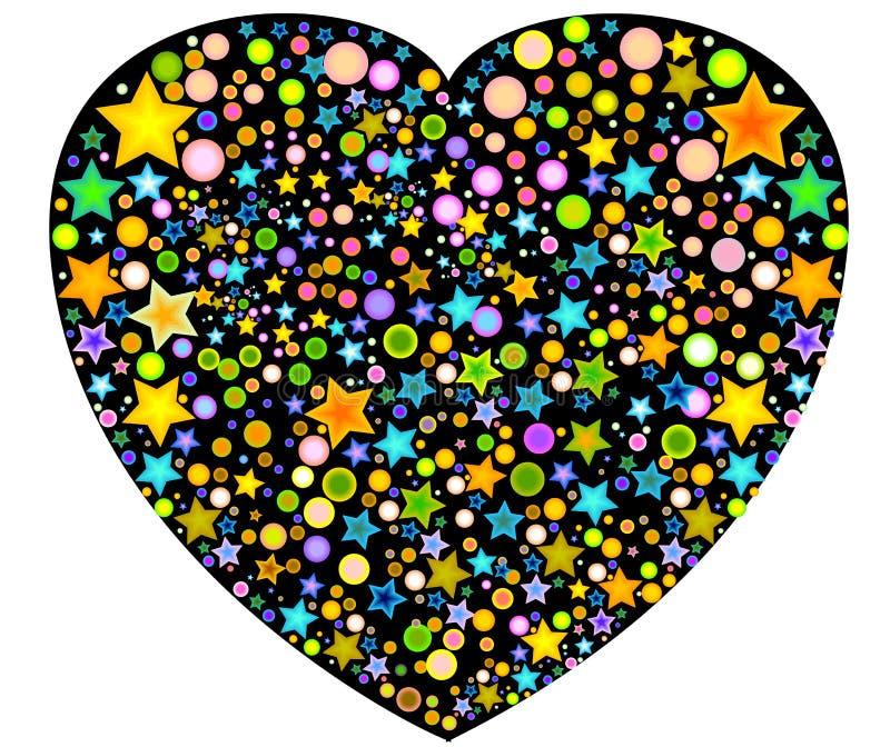 designs filled floral heart 皇族释放例证