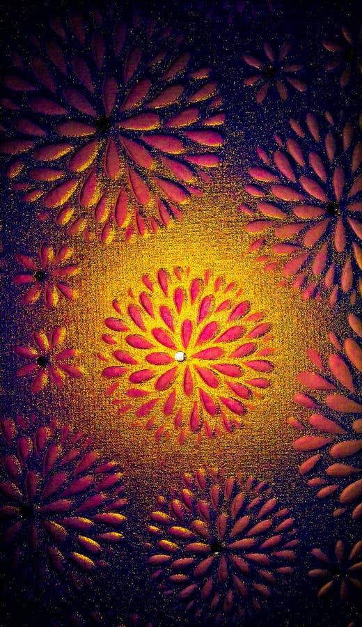 Designs florais Glittery ilustração royalty free