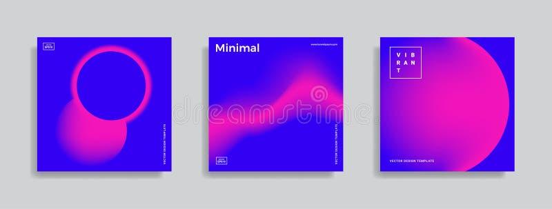 Designschablone mit vibrierenden Steigungsformen lizenzfreie abbildung