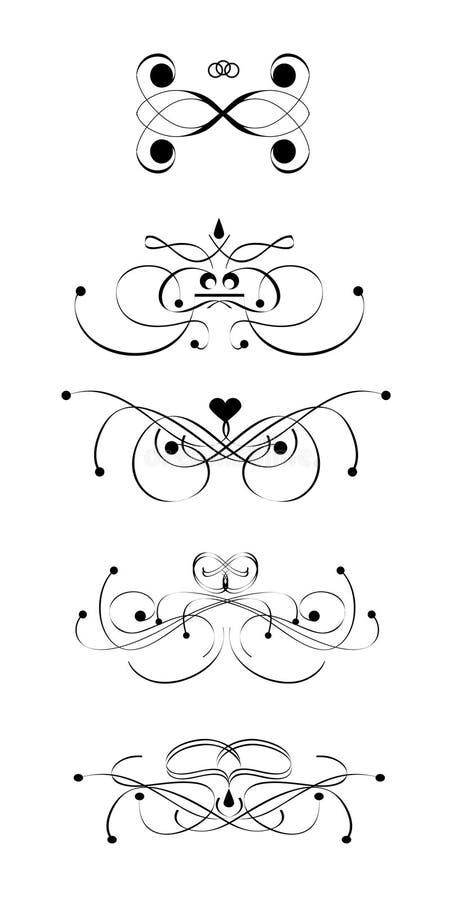 designscroll stock illustrationer