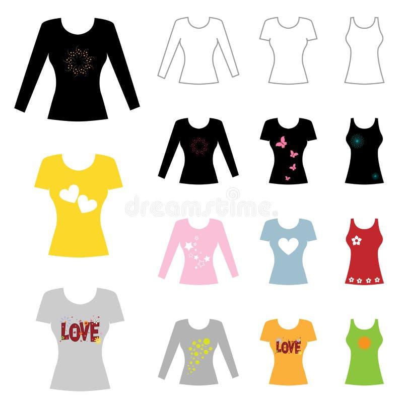 Download Designskjorta t vektor illustrationer. Illustration av green - 20489527
