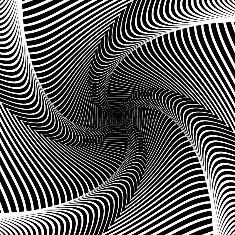 Designstrudelbewegungs-Illusionshintergrund lizenzfreie abbildung