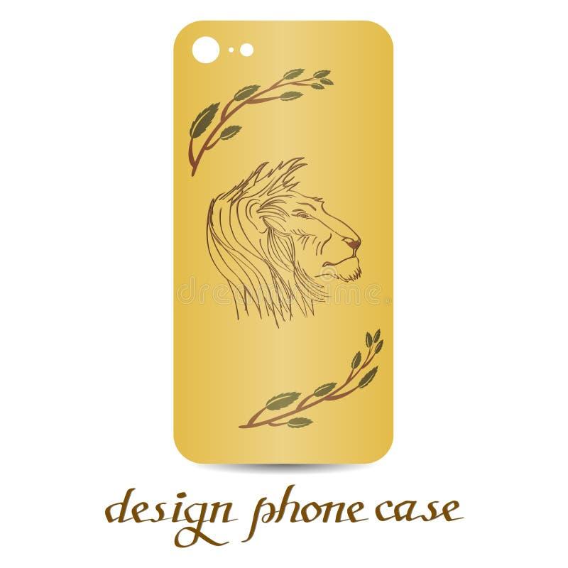 Designtelefonfall Dekorerade telefonfall är blom- dekorativ elementtappning vektor illustrationer