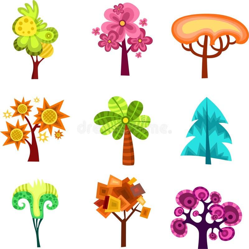 designtree royaltyfri illustrationer