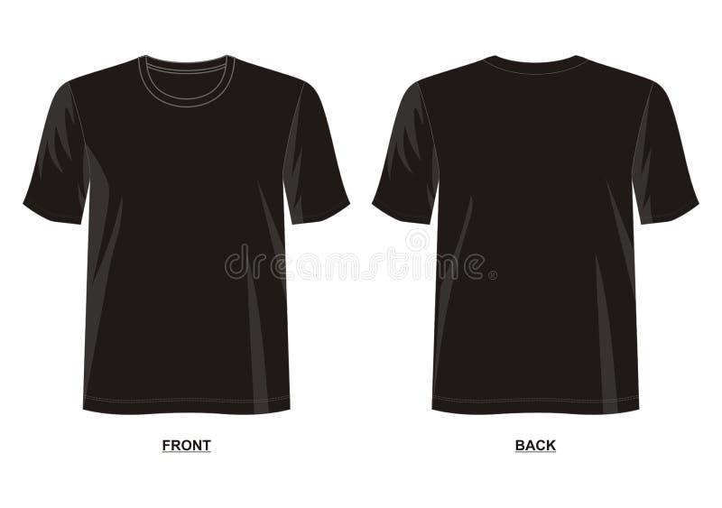 Designvektort-shirt Schablonensammlung für Männer stock abbildung