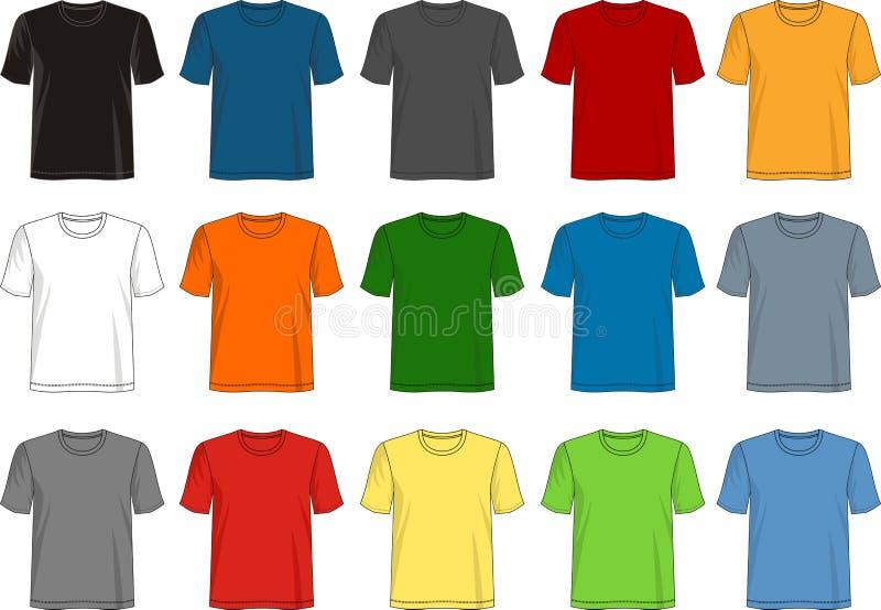 Designvektort-shirt Schablonensammlung für Männer lizenzfreie abbildung