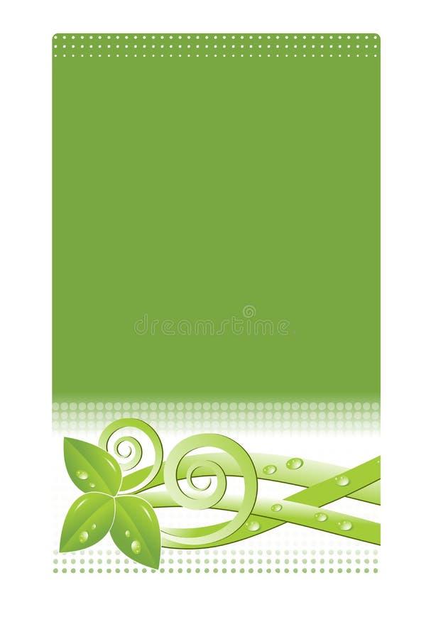 designvykortfjäder stock illustrationer