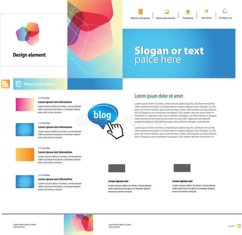 designwebsite royaltyfri illustrationer