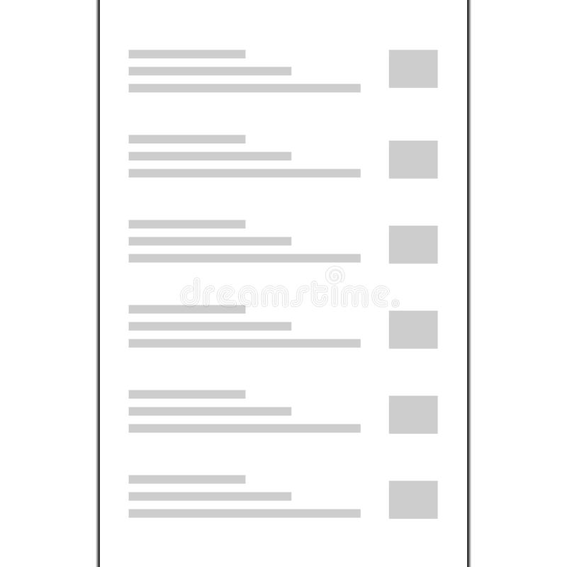 Designweinlese-Artseitengrenze des Papiers A4 stock abbildung