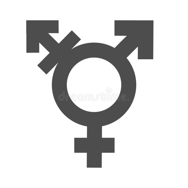 Desigualdad del género y símbolo del icono de la igualdad Icono hembra-varón del transexual del hombre de la mujer del muchacho d libre illustration