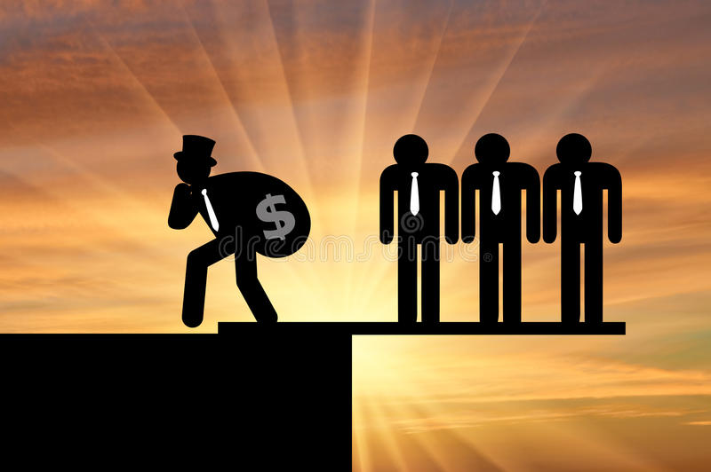 Desigualdade e capitalismo fotografia de stock