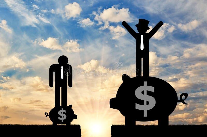 Desigualdade social e capitalismo imagem de stock