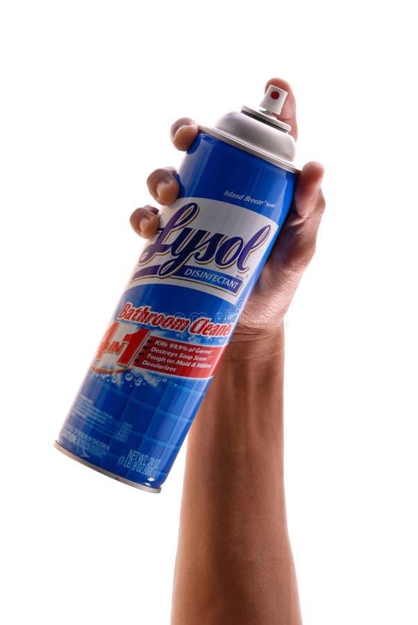 Desinfectante de Lysol fotografía de archivo