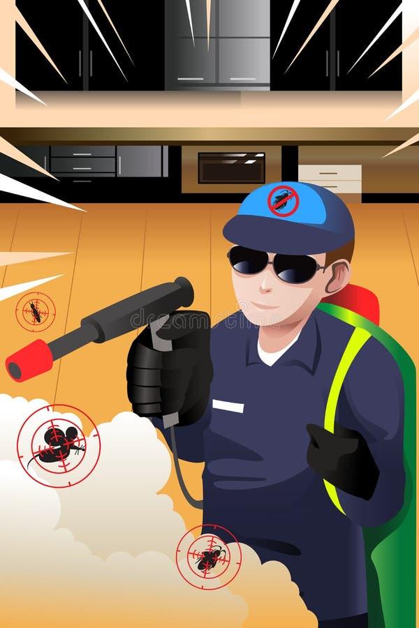 Desinfektörman stock illustrationer