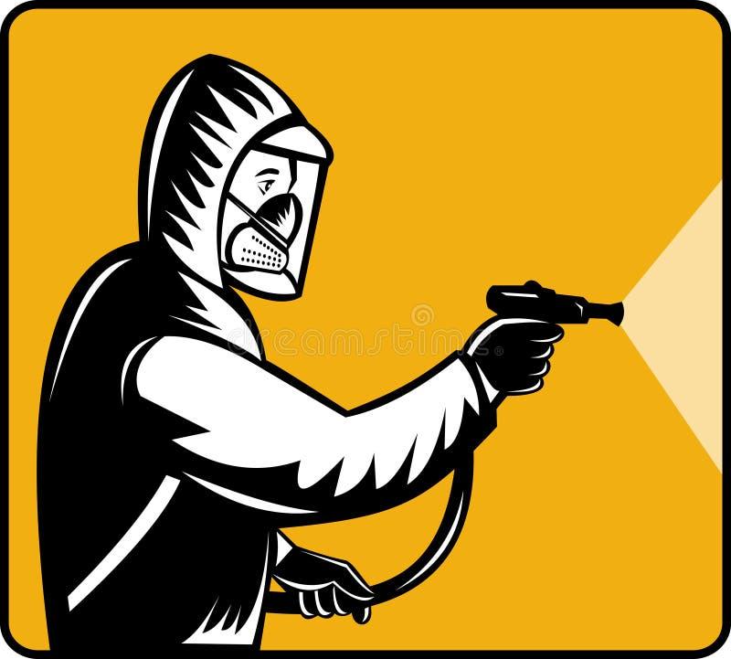 desinfektörplågabekämpningsmedel stock illustrationer