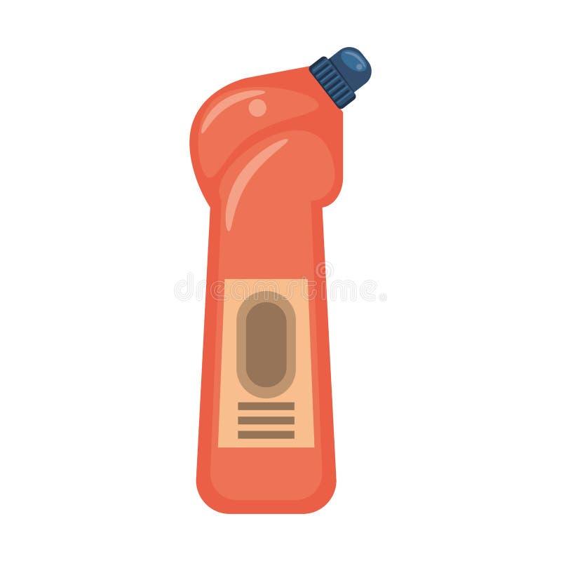 Desinfektionsmedeltvålflaskor med utmatare isoalted symbol royaltyfri illustrationer