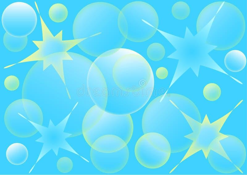 Desing bubblor bevattnar abstrakt bakgrund vektor illustrationer
