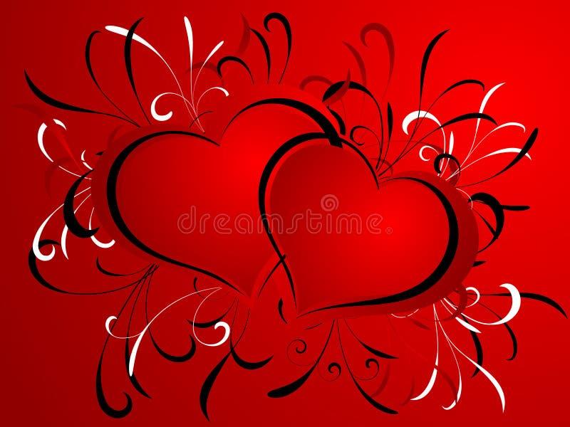 Desingn dei biglietti di S. Valentino royalty illustrazione gratis